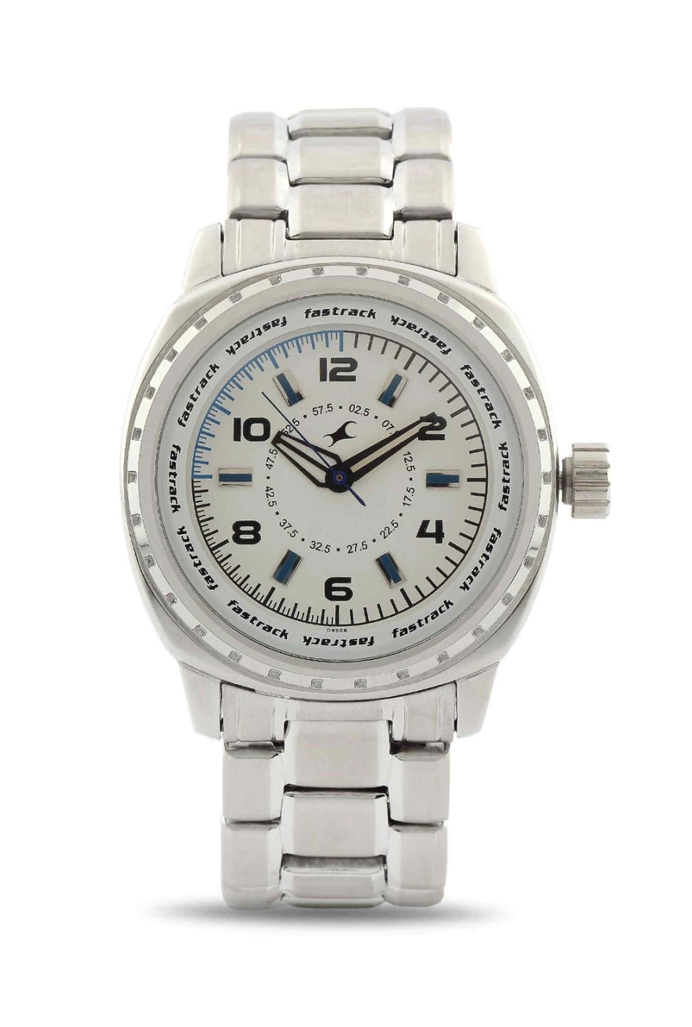 Fastrack NE3071SM01 Hers Analog White Dial Men's Watch (NE3071SM01)