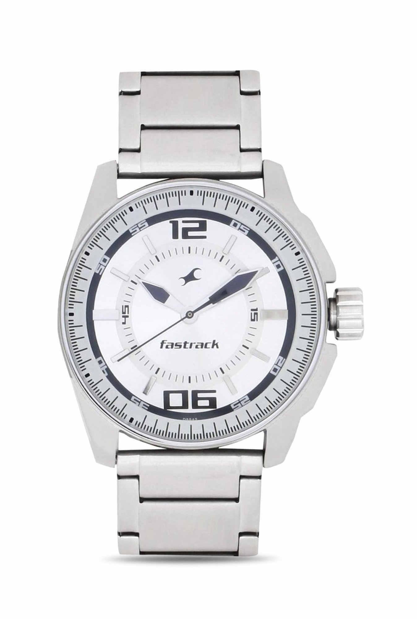 Fastrack NG3089SM01 Black Magic Analog White Dial Men's Watch (NG3089SM01)