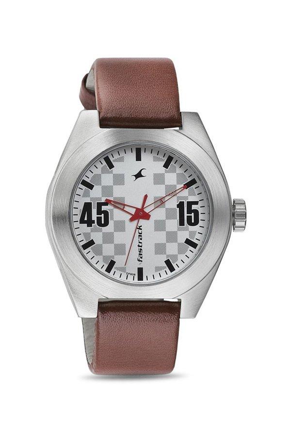 Fastrack 3110SL01 Analog Silver Dial Men's Watch (3110SL01)