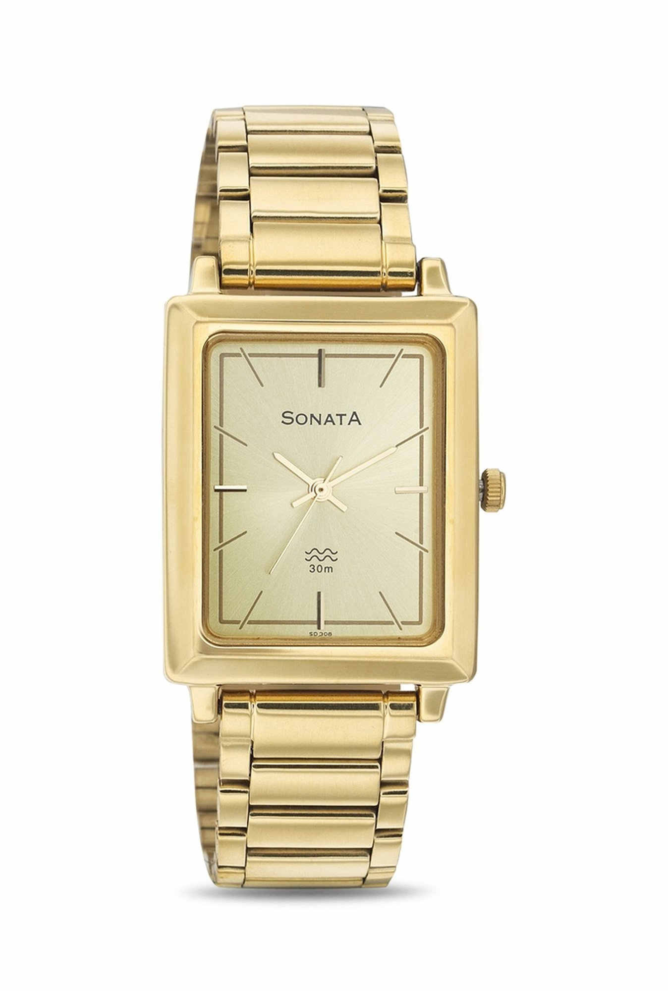 Sonata 7078YM02 Analog Gold Dial Men's Watch (7078YM02)