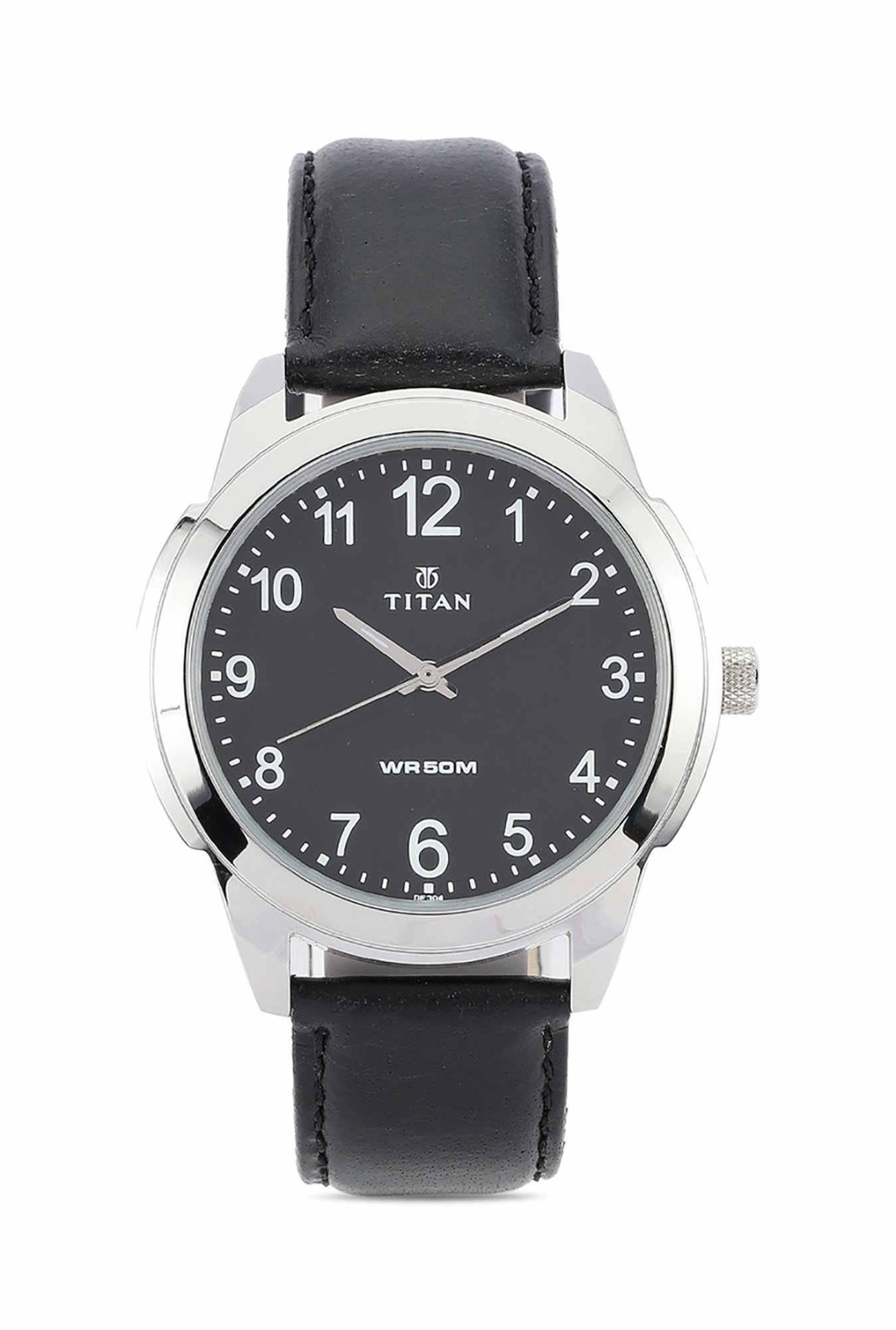 Titan 1585SL08 Analog Black Dial Men's Watch (1585SL08)