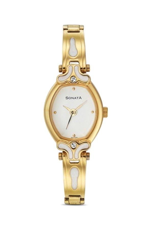 Sonata NG8068YM03 Sona Sitara Analog White Dial Women's Watch (NG8068YM03)