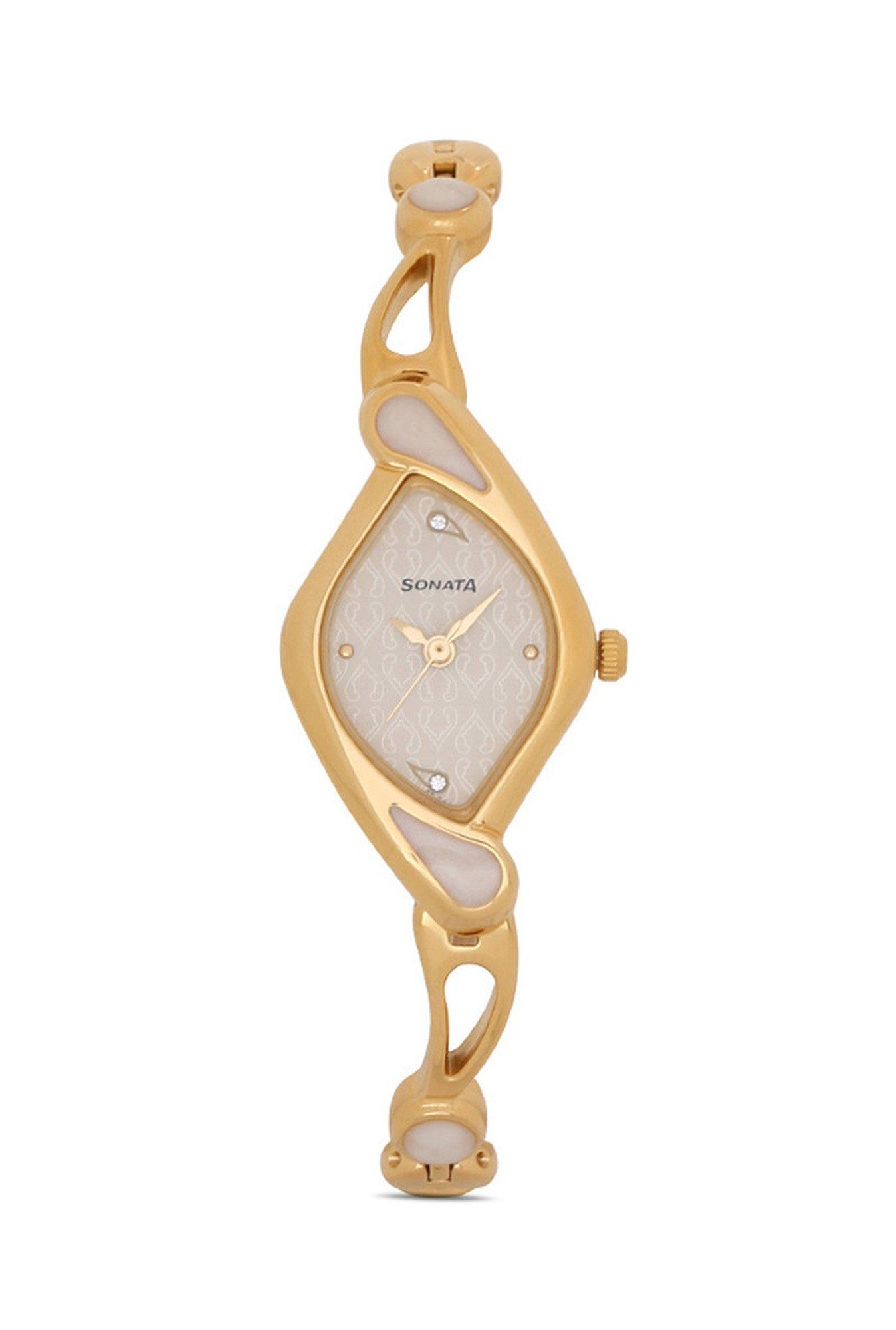 Sonata NG8073YM01C Sona Sitara Analog White Dial Women's Watch (NG8073YM01C)