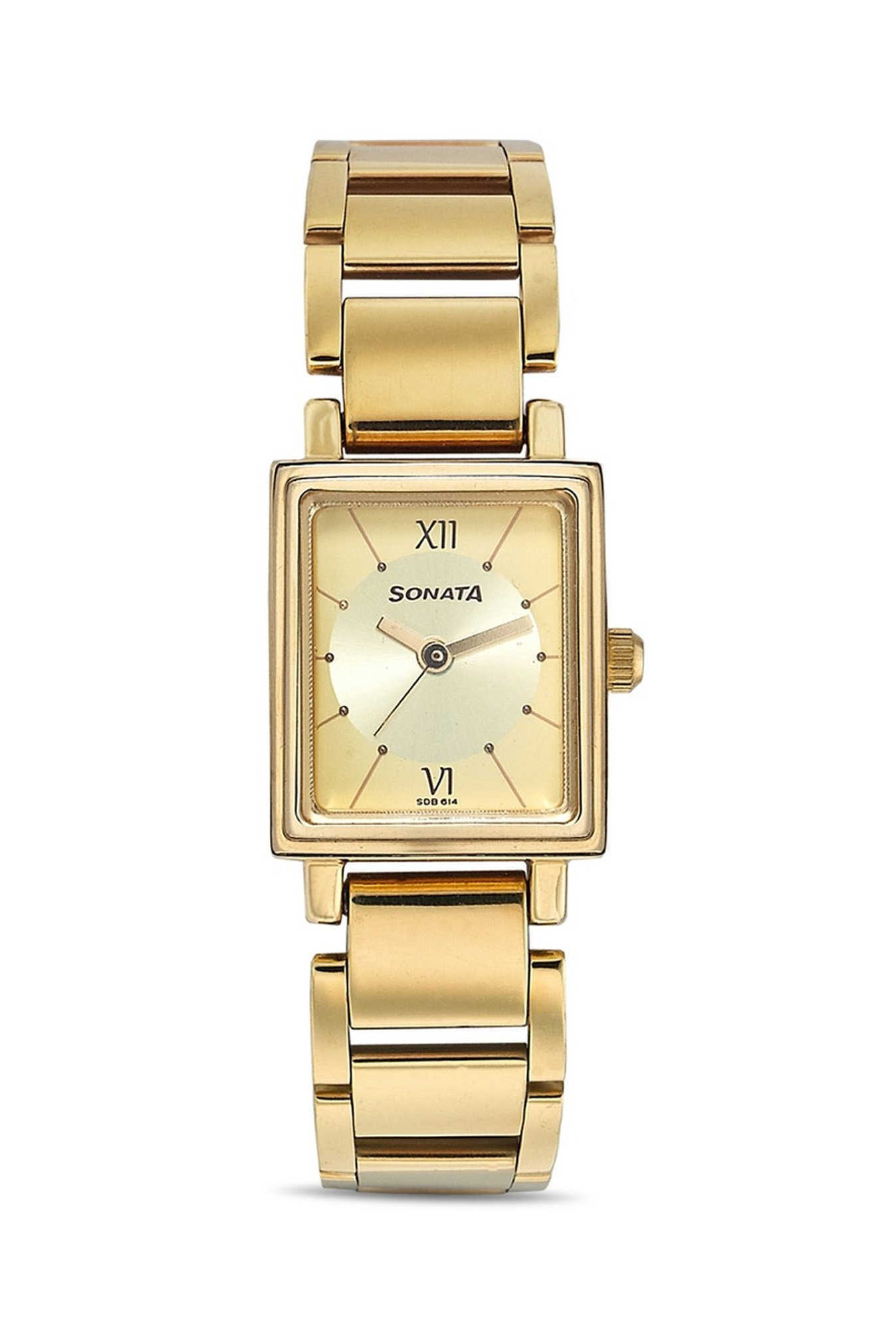 Sonata NF8080YM01 Analog Gold Dial Women's Watch (NF8080YM01)