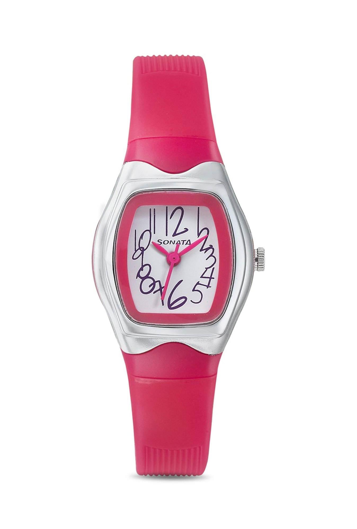 Sonata 8989PP06J Analog White Dial Women's Watch (8989PP06J)