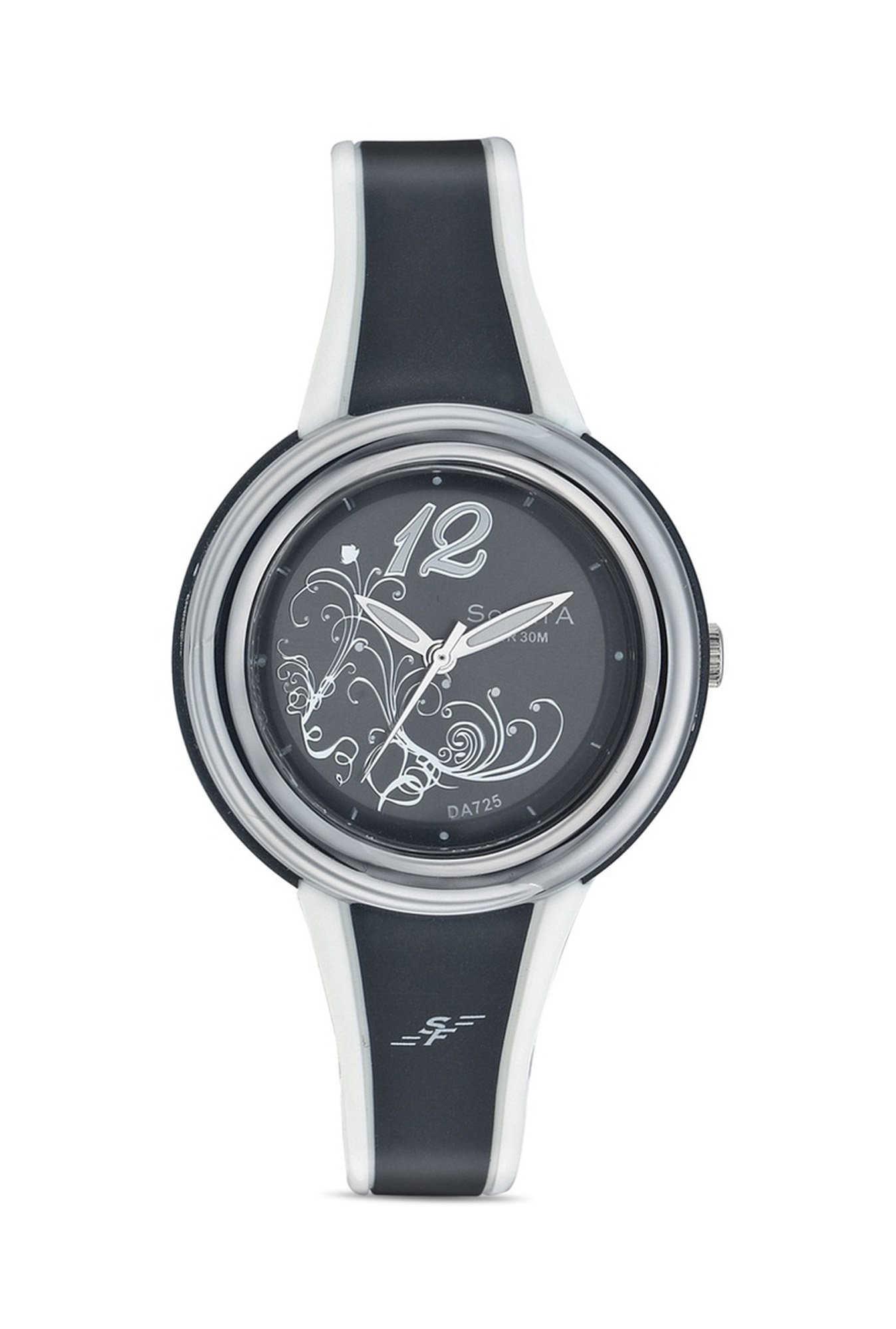 Sonata NF8962PP02J Super Fibre Analog Black Dial Women's Watch (NF8962PP02J)