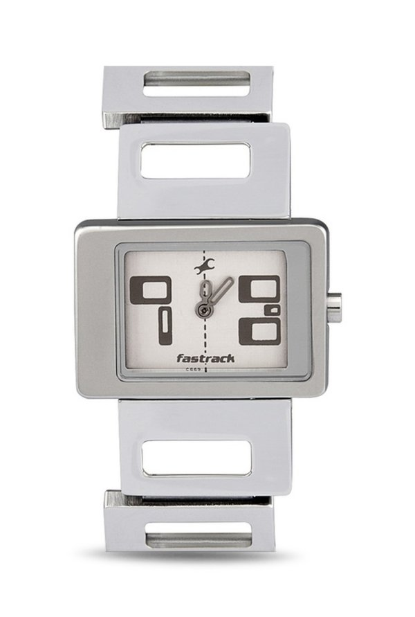 Fastrack NG2404SM01 Upgrade Party Analog White Dial Women's Watch (NG2404SM01)