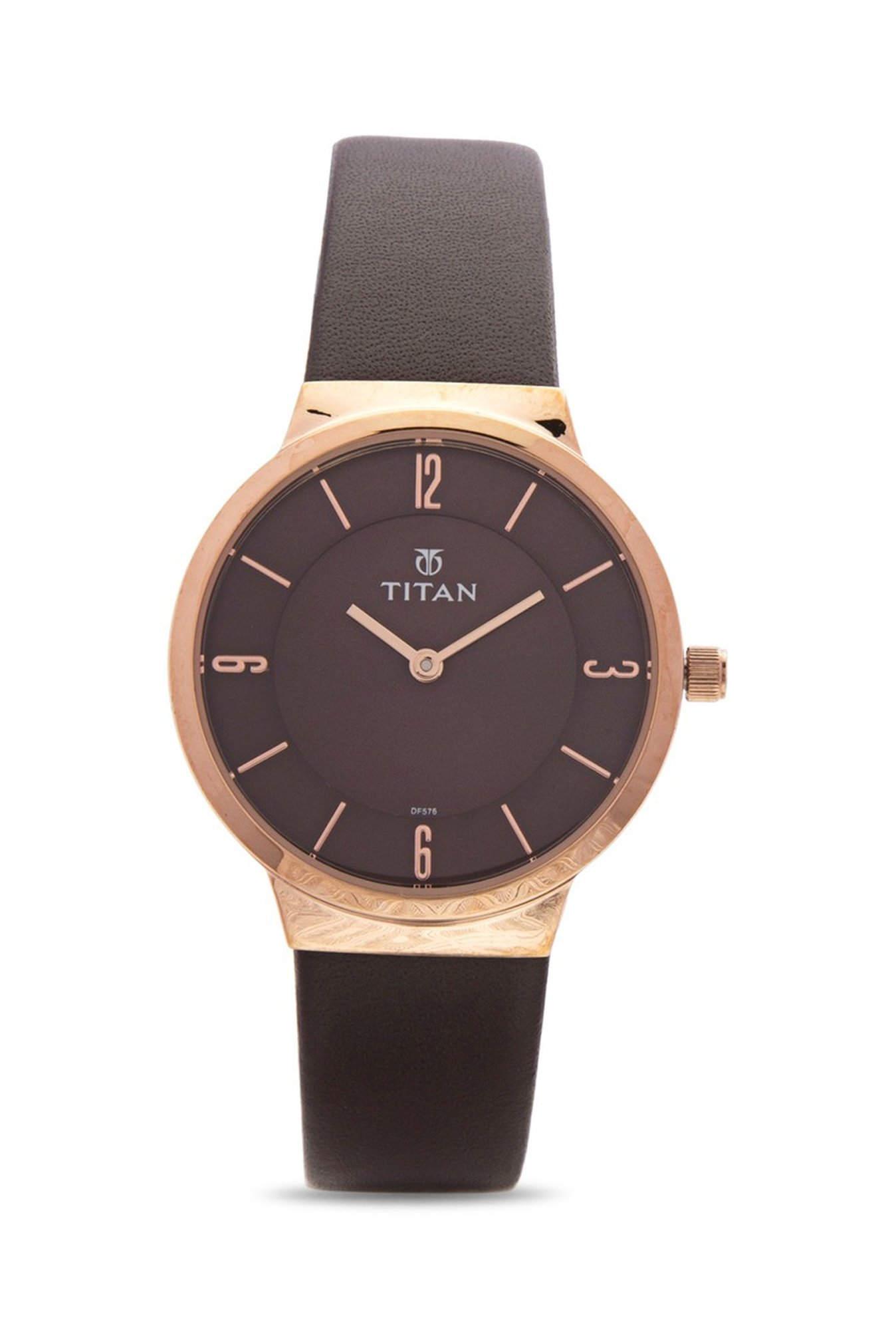 Titan 95033WL01 Brown Analogue Women's Watch (95033WL01)