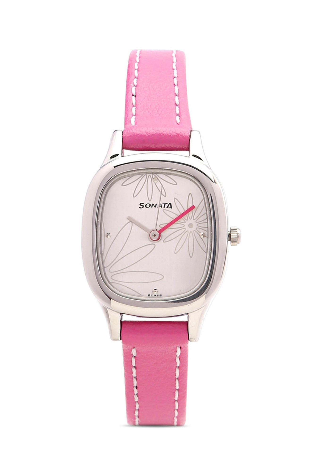 Sonata NG8060SL01C Yuva Analog White Dial Women's Watch (NG8060SL01C)