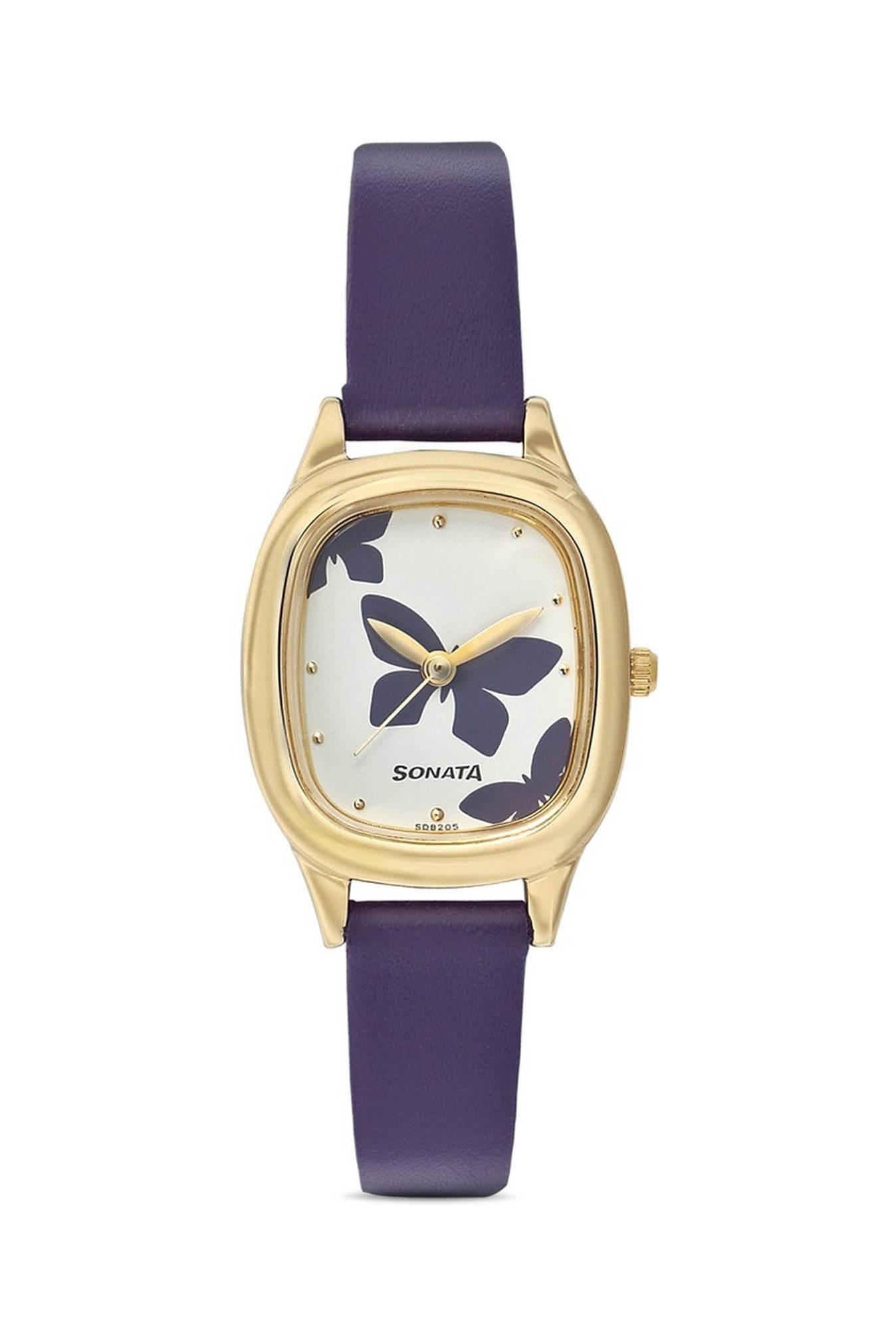Sonata NG8060YL01C Analog Yoga Gold White Dial Women's Watch (NG8060YL01C)