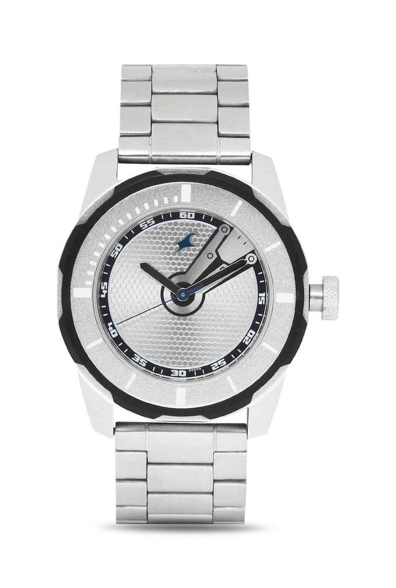 Fastrack 3099SM01 Analog Silver Dial Men's Watch (3099SM01)