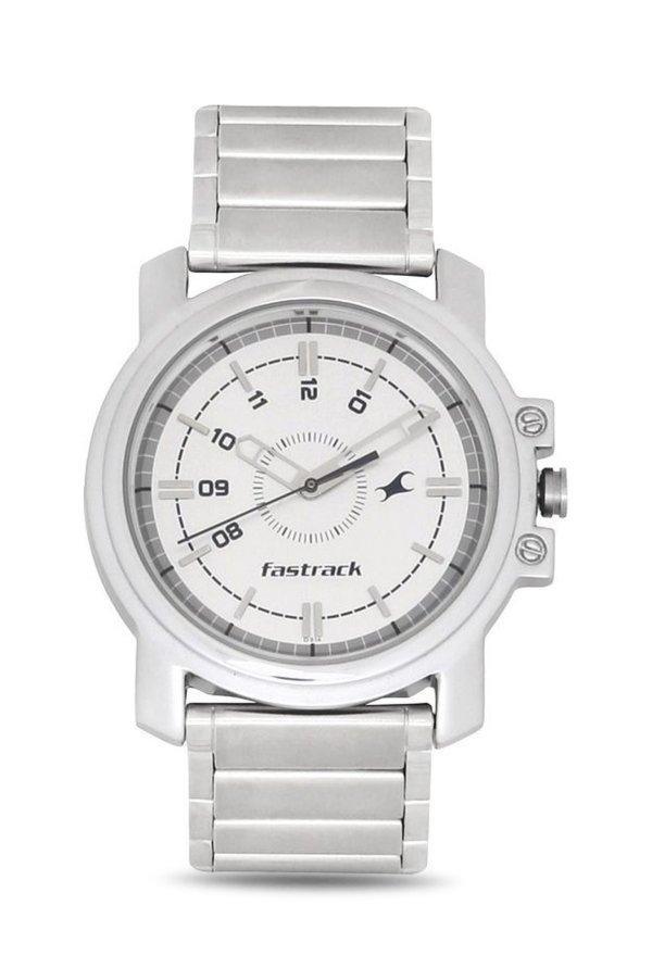 Fastrack NG3039SM01C Quartz White Round Men's Watch (NG3039SM01C)