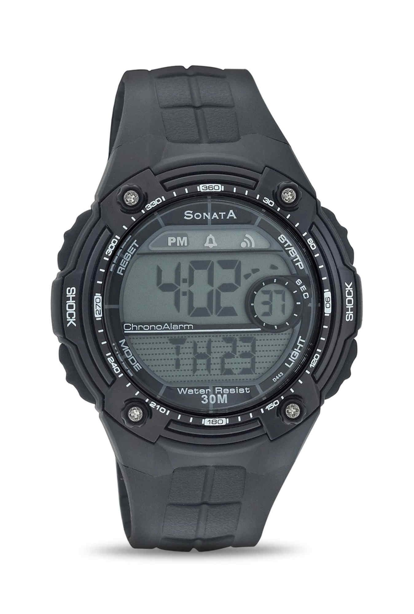 Sonata NH7949PP04J SuperFibre Digital Grey Dial Men's Watch (NH7949PP04J)