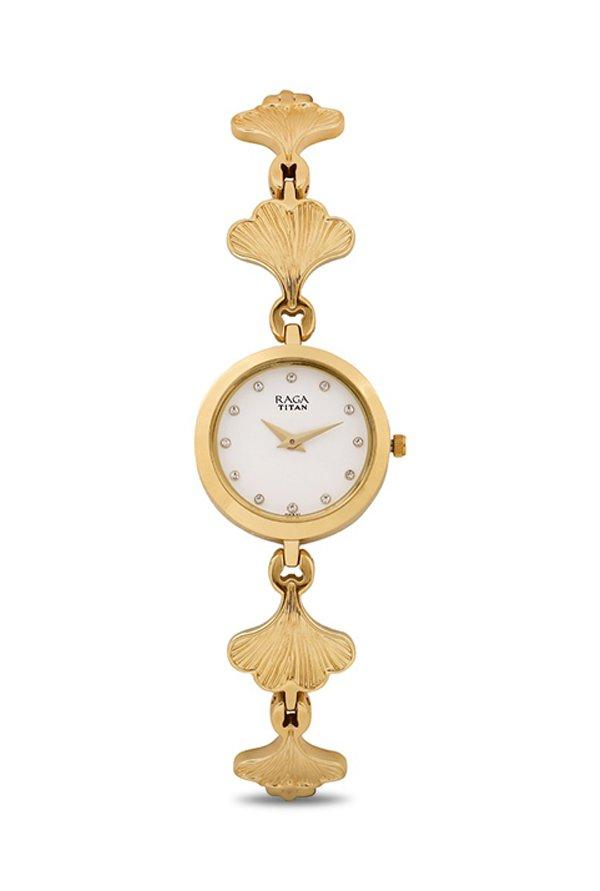 Titan Raga 2540YM04 White Analogue Women's Watch (2540YM04)