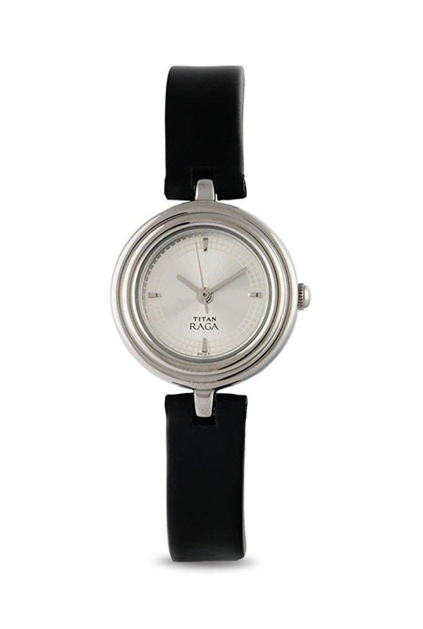 Titan Raga 2498SL01 Analog Silver Dial Women's Watch (2498SL01)