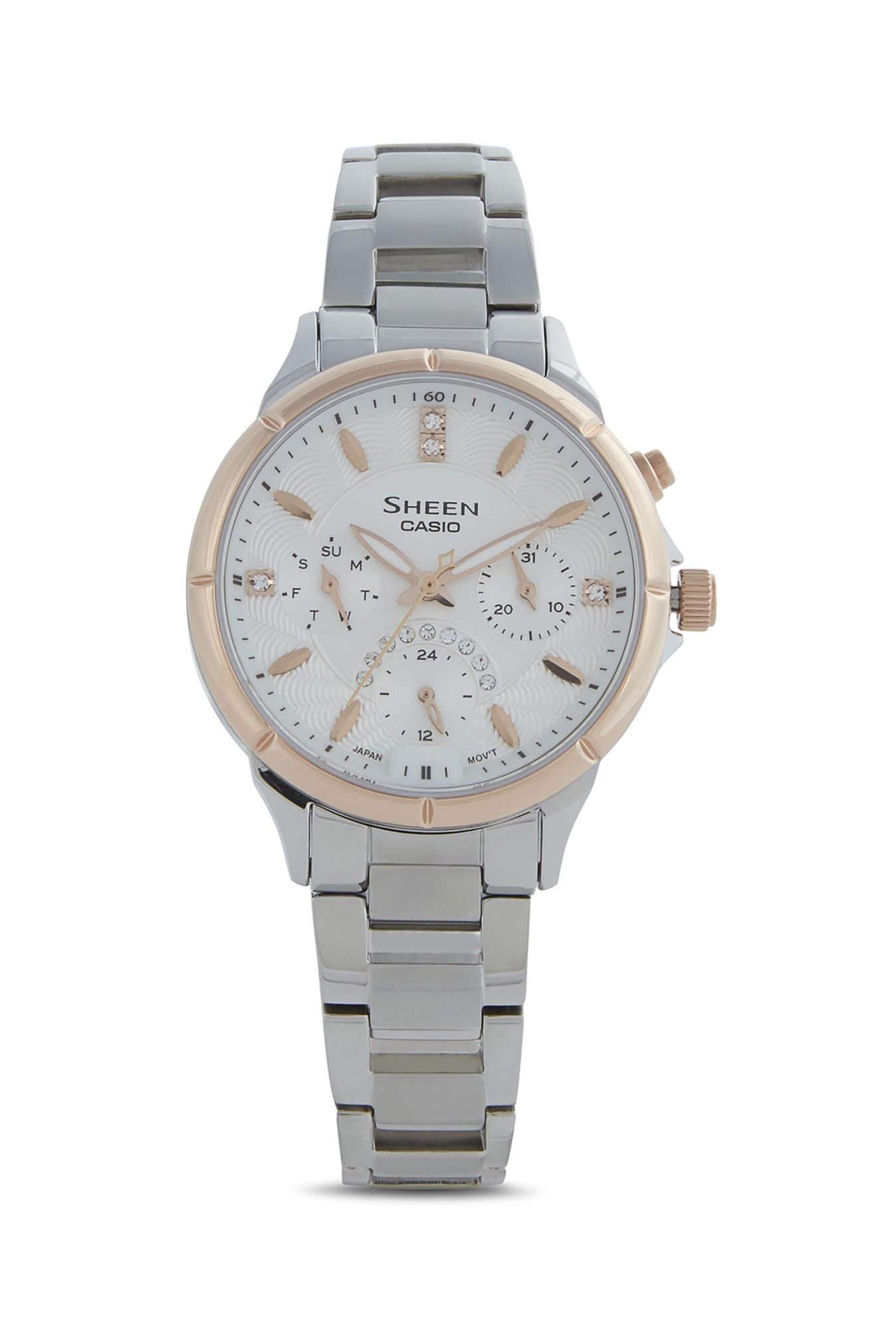 Casio Sheen SHE-3047SG-7AUDR (SX167) Analog White Dial Women's Watch (SHE-3047SG-7AUDR (SX167))