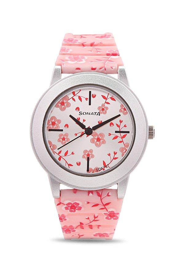 Sonata 8992PP05 Analog Multi-Colour Dial Women's Watch (8992PP05)