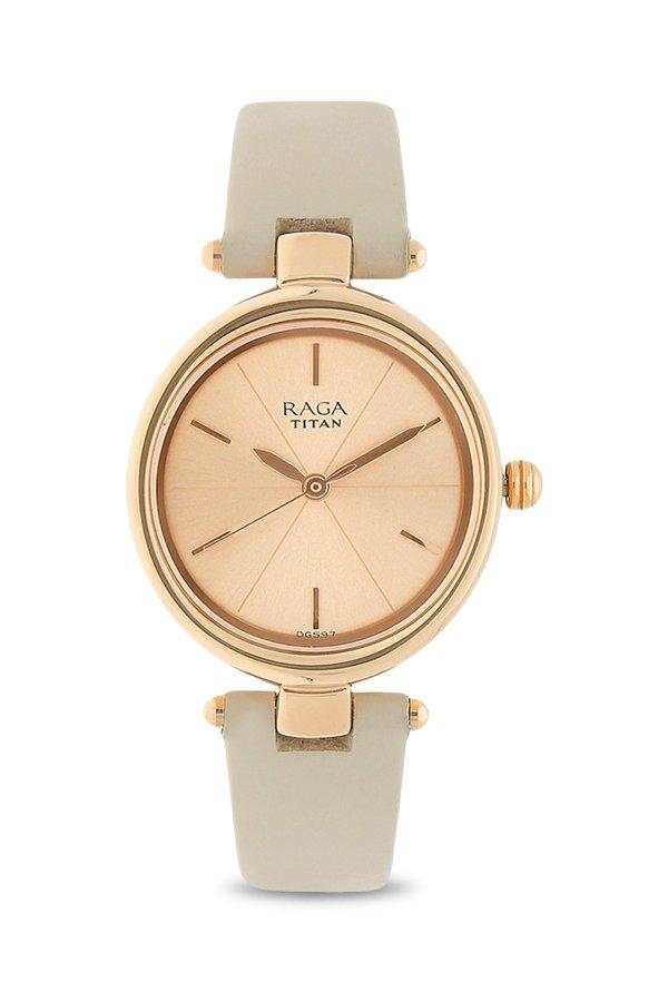 Titan Raga 2579WL01 Viva Analog Rose Gold Dial Women's Watch (2579WL01)