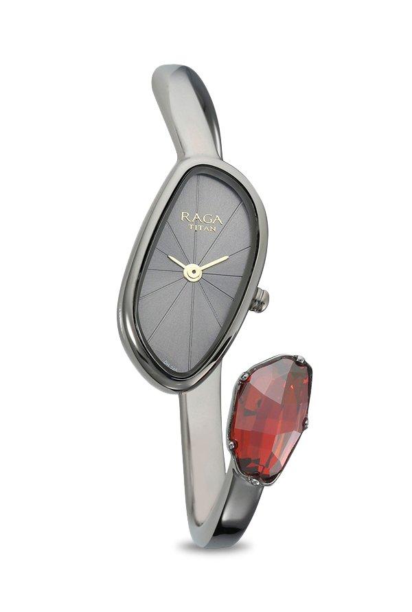 Titan 95055TM01F Analog Multi Colour Dial Women's Watch (95055TM01F)