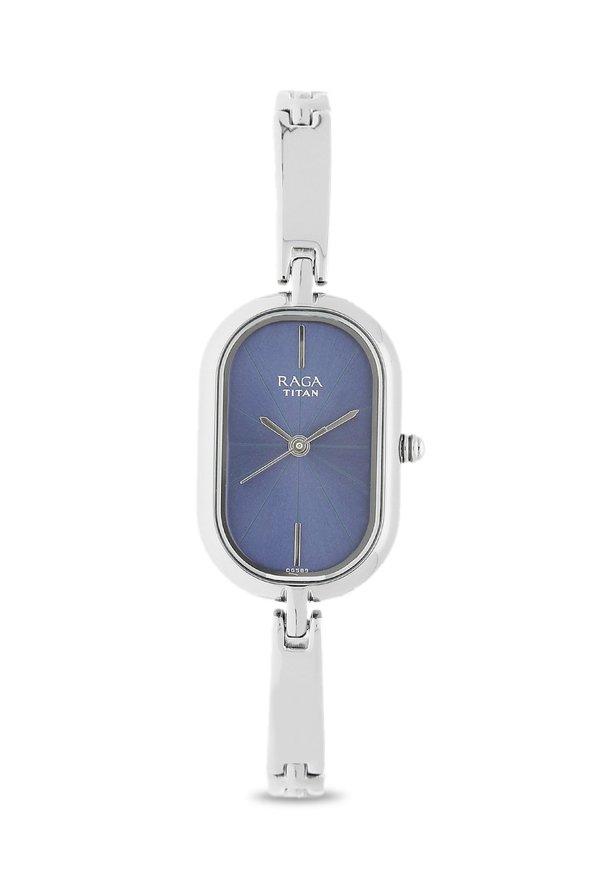 Titan Raga 2577SM01 Viva Analog Blue Dial Women's Watch (2577SM01)
