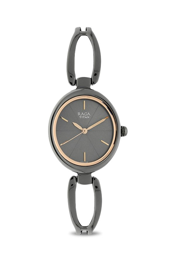 Titan Raga 2579QM01 Gunmetal Toned Analogue Women's Watch (2579QM01)