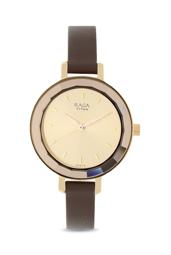 Titan Raga 2575WL01 Viva Analog Rose Gold Dial Women's Watch (2575WL01)