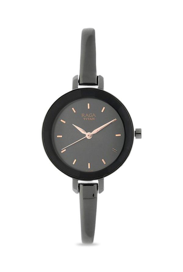 Titan Raga 2575QM01 Viva Analog Gunmetal Dial Women's Watch (2575QM01)