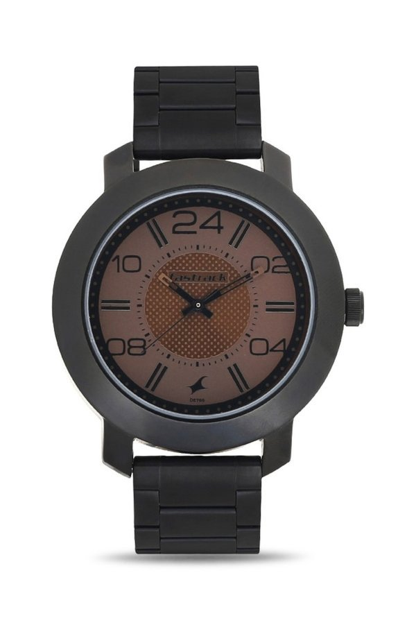 Fastrack NJ3120NM02C Black & Brown Metal Analog Men's Watch (NJ3120NM02C)
