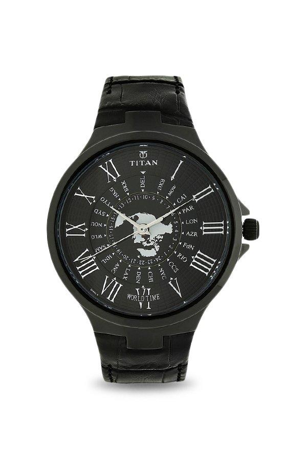Titan 1706NL01 Globe Trotter Analog Men's Watch (1706NL01)