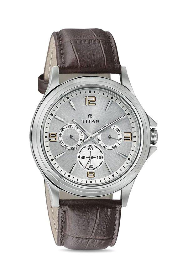 Titan 1698SL01 Analog Silver Dial Men's Watch (1698SL01)