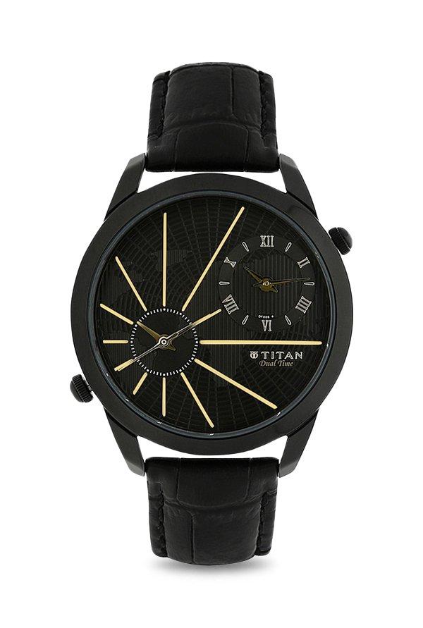 Titan 1707NL01 Globe Trotter Analog Men's Watch (1707NL01)