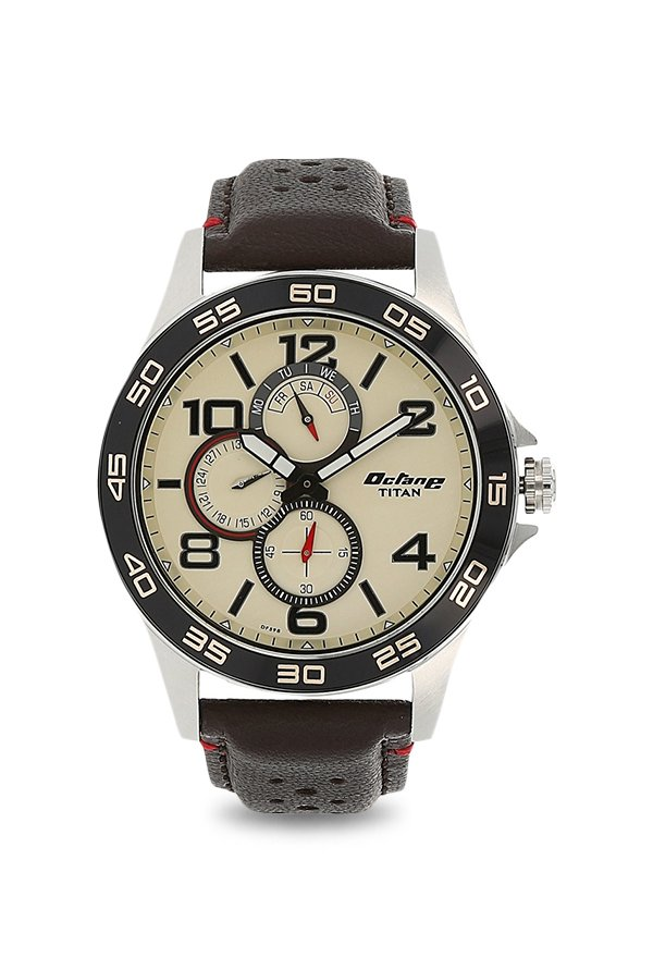 Titan 1702KL02 Analog Beige Dial Men's Watch (1702KL02)