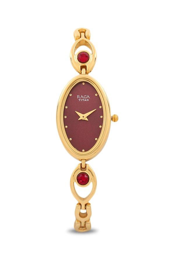 Titan 2527YM03 Analog Red Dial Women's Watch (2527YM03)