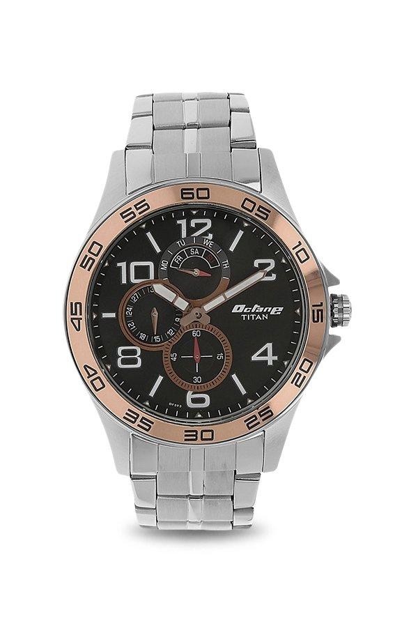 Titan 1702KM02 Analog Black Dial Men's Watch (1702KM02)