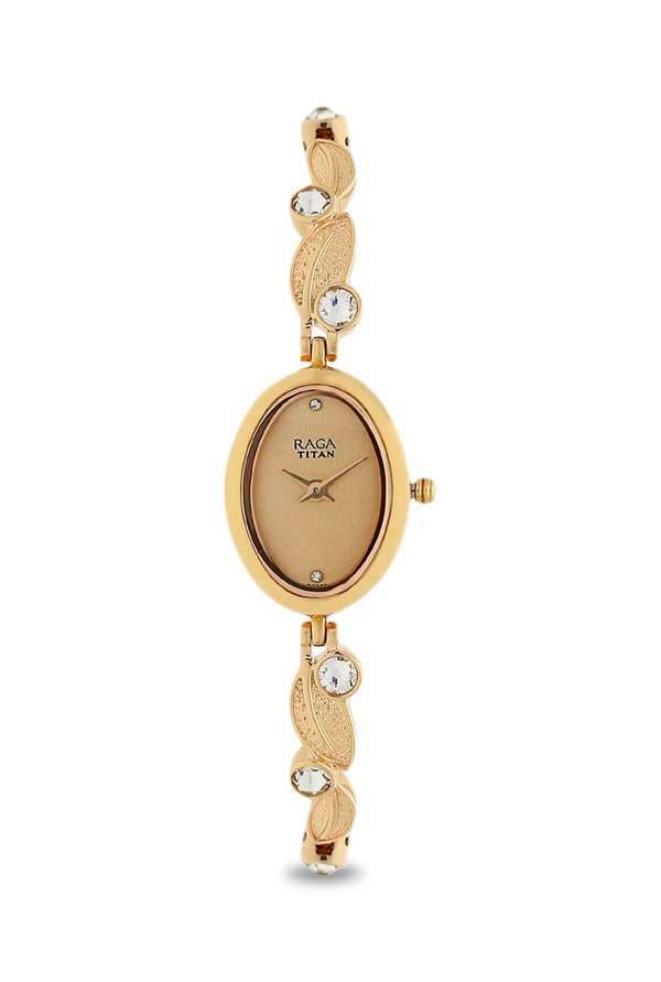 Titan Raga 2511WM05 Rose Gold Toned Dial Women's Watch (2511WM05)