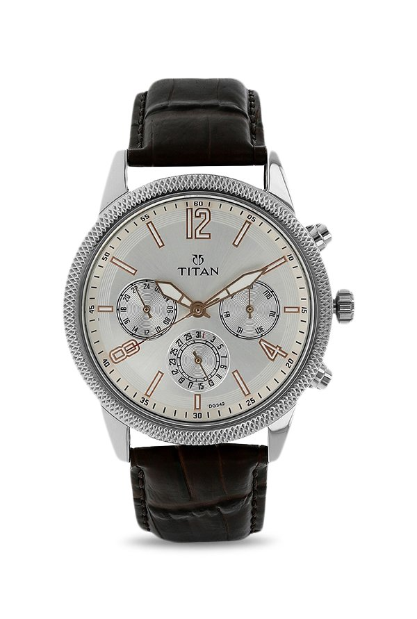 Titan Neo 1734SL01 Analog Silver Dial Men's Watch (1734SL01)
