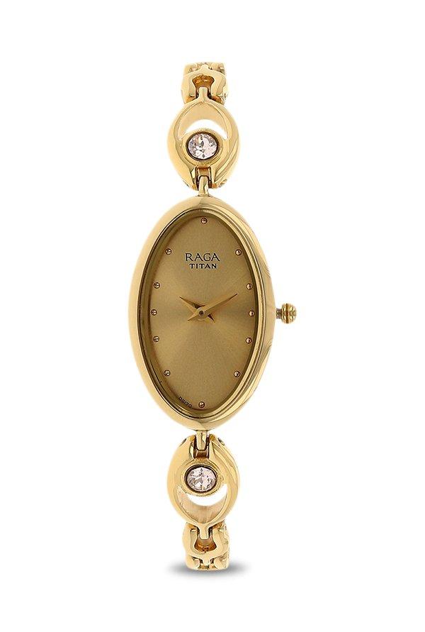 Titan 2527YM02 Analog Beige Dial Women's Watch (2527YM02)
