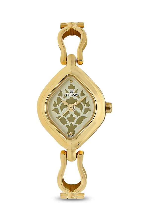 Titan 2536YM03 Analog Gold Dial Women's Watch (2536YM03)