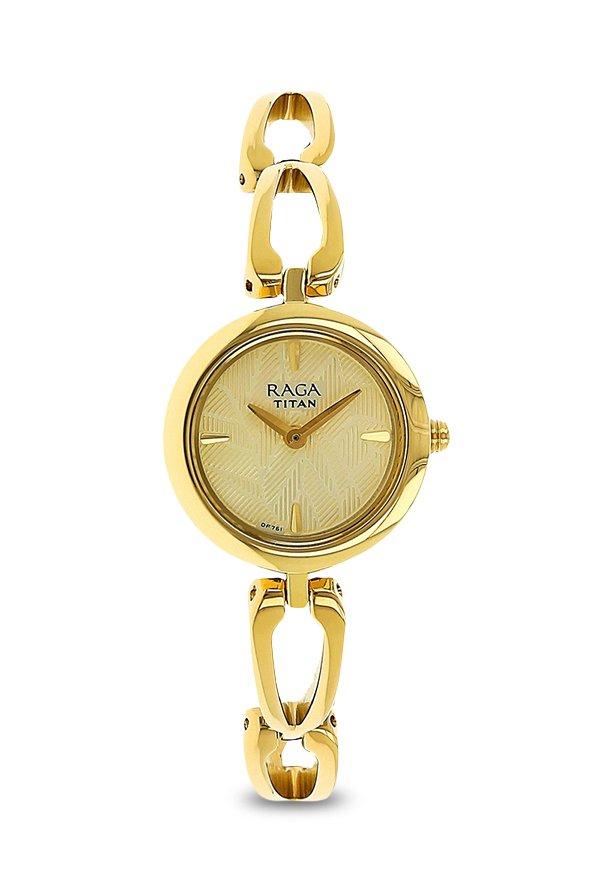 Titan 2553YM03 Analog Champagne Dial Women's Watch (2553YM03)