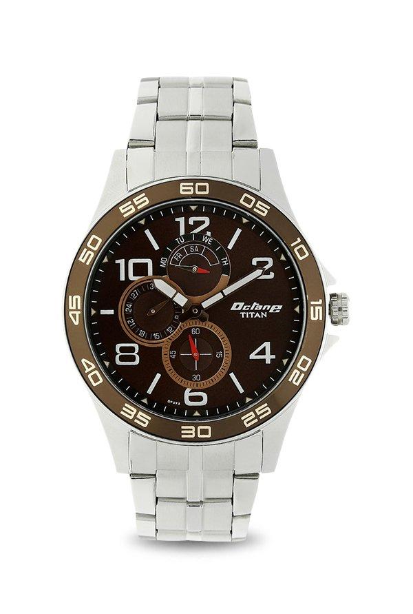 Titan Octane 1702KM03 Analog Brown Dial Men's Watch (1702KM03)