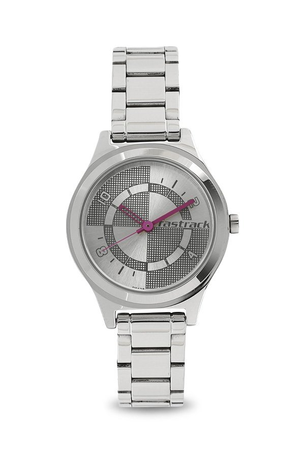 Fastrack 6152SM01 Analog Silver Dial Women's Watch (6152SM01)