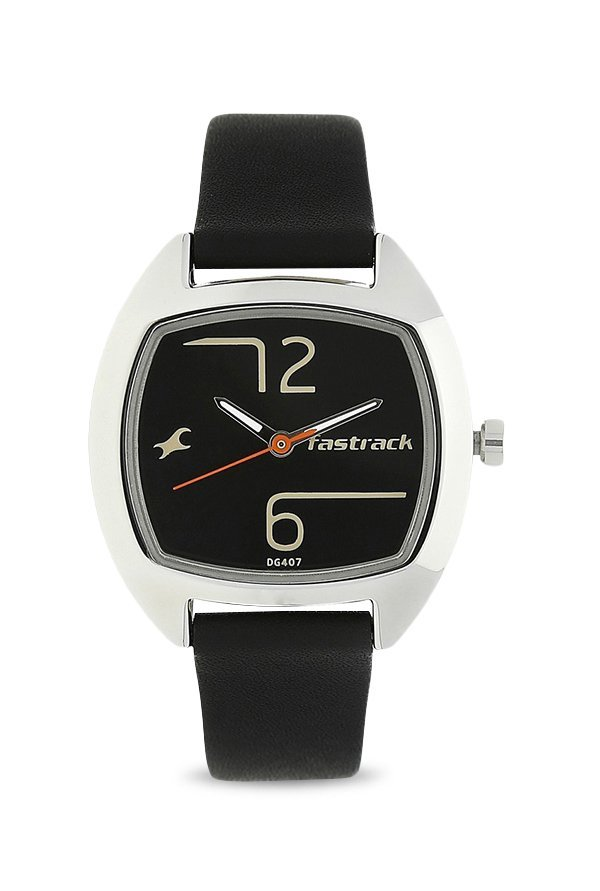 Fastrack 6162SL01 Analog Black Dial Women's Watch (6162SL01)