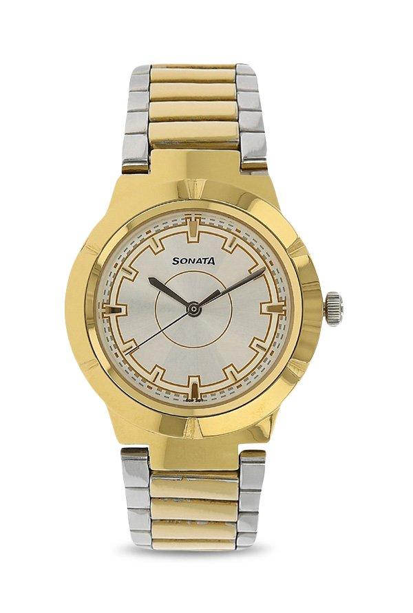 Sonata 8138BM01 Analog Silver Dial Women's Watch (8138BM01)