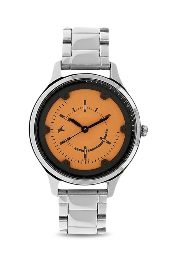 Fastrack 6138SM02 Analog Orange Dial Women's Watch (6138SM02)