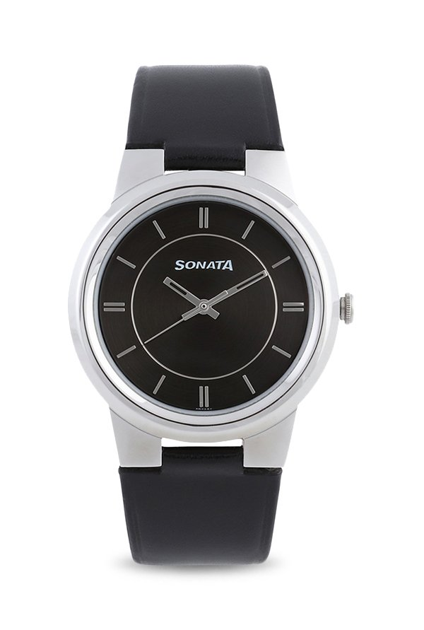 Sonata 7121Sl01 Analog Black Dial Men's Watch (7121Sl01)