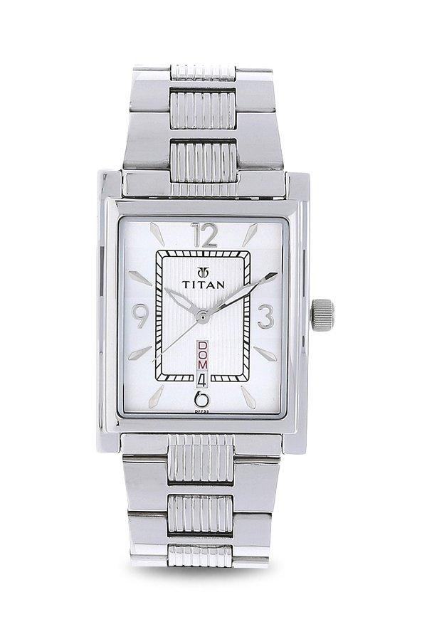 Titan 90024SM01 Slimline Analog Silver Dial Men's Watch (90024SM01)