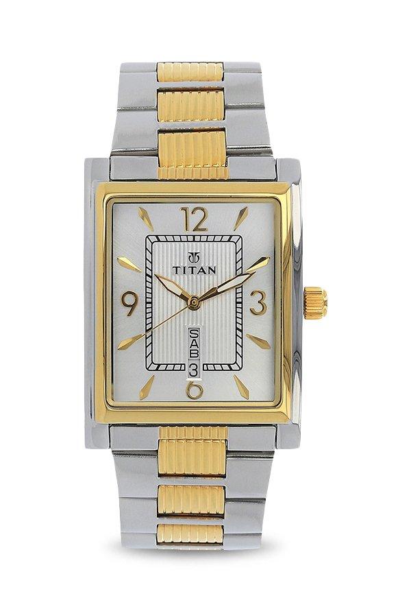 Titan 90024BM03 Slimline Analog Silver Dial Men's Watch (90024BM03)