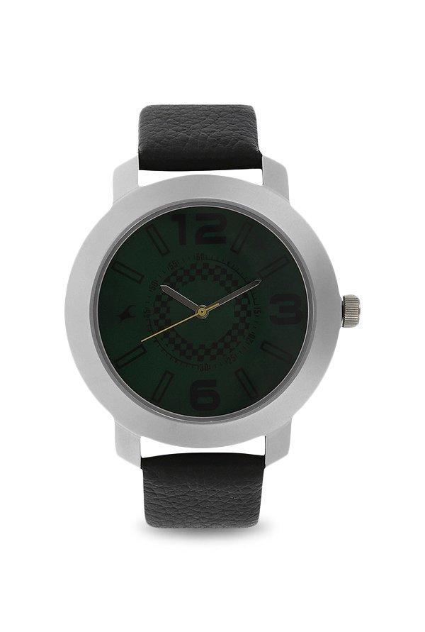Fastrack 3120SL03 Analog Green Dial Men's Watch (3120SL03)