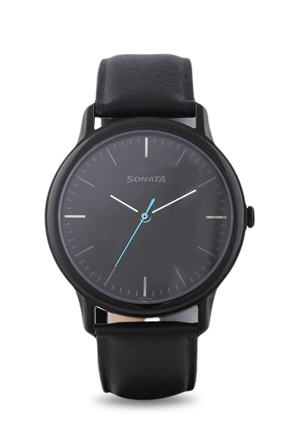 Sonata 7128NL01 Sleek Analog Black Dial Men's Watch (7128NL01)