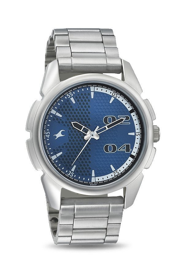 Fastrack 3124SM03 Loopholes Analog Blue Dial Men's Watch (3124SM03)